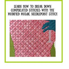 Needlepoint Stitches, Needlepoint Kits, Needlework, Stitch Fit, Cross Stitch, Cosmo Girl, How To Make A Pom Pom, House Ornaments, Basic Math