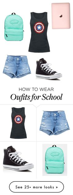"""School outfit"" by gggil on Polyvore featuring rag & bone/JEAN, Vans and Converse"