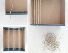 DIY: Weaving Loom Made from a Shoe Box! « Babyccino Kids: Daily ...