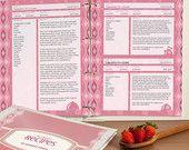 Printable Recipe Binder Set Retro 1950s Style Recipe by Bizuza