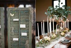 New Orleans Inspired Wedding Ideas- I like the shutter look for escort cards. This has a new orleans feel, but I may dress it up a little to feel more vintage new orleans (and to fit with your venue)