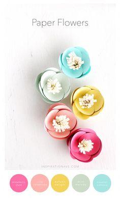 Un joli diy de fleurs en papier pour amener l'été sur vos tables. A cute diy paper flowers to bring summer on your tables. #b4wedding #mariage #wedding #deco
