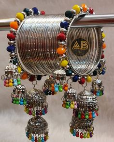 Antique Jewellery Designs, Fancy Jewellery, Stylish Jewelry, Designer Jewellery, Fashion Jewellery, Indian Jewelry Sets, Silver Jewellery Indian, Silver Jewelry, Indian Bangles
