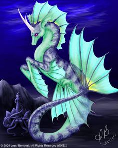 Hippocampus Unicorn SeaCritter by ~benwhoski on deviantART Magical Creatures, Sea Creatures, Fantasy Kunst, Fantasy Art, Arte Equina, Seahorse Art, Seahorses, Water Dragon, Unicorn Art