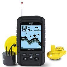 LUCKY 328ft /100m depth Fishfinder Sonar Transducer 2-in-1 Wired & Wireless Sensor Portable Waterproof Fish Finder FF718Li  $US $103.95 & FREE Shipping //   https://fishinglobby.com/lucky-328ft-100m-depth-fishfinder-sonar-transducer-2-in-1-wired-wireless-sensor-portable-waterproof-fish-finder-ff718li/    #fishingreels