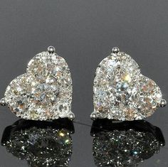 Heart stud earrings...............ABSOLUTELY LOVE THESE! I have been wanting diamond stud earrings for years but these are the most gorgeous I have ever seen!