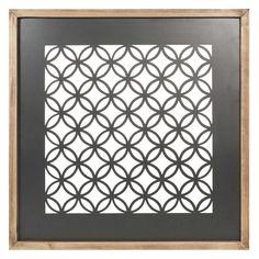 Quadro nero in metallo 50 x 50 cm JUNGLE CUT