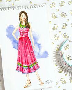 #fashion #sketch #indian #festival