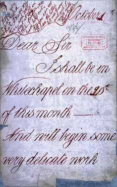 Ripper Correspondence by The National Archives UK, via Flickr