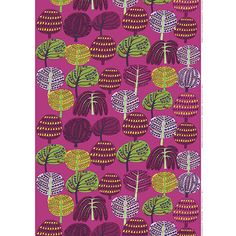 """Grandpa's Garden"" fabric, inspired by designer Teresa Moorhouse's fond memories of harvesting honey with her grandfather. Marimekko Isoisän Puutarha Pink Fabric - $53"