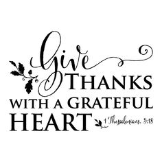 Give thanks with a grateful heart 1 Thessalonians 5:18 {leaf embellishments}
