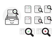 Database Search Icons by Andy O'Dore