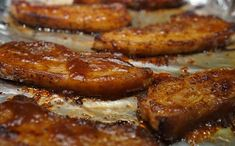 These are the best BBQ Pork Belly slices. They're so easy to make, and they are delicious. You can use pork belly strips for so many things - like bao buns, burgers, ramen, and tacos Pork Belly Strips, Pork Strips, Pork Belly Slices, Pork Marinade, Marinated Pork, Bbq Pork, Barbecue, Pork Belly Recipe Oven, Pork Belly Recipes