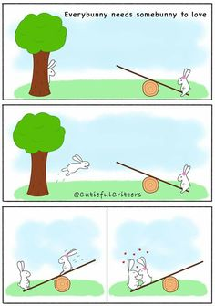 Everybunny needs somebunny to love. #ComicRelief #MondayChuckle #FridayFunny