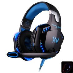 EACH G2000 Deep Bass Game Headphone Stereo Surrounded Over-Ear Gaming  Headset Headband Earphone with Light for Computer PC Gamer 606006414ac9