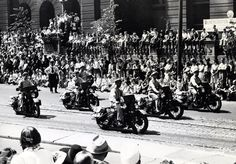 Harley-Davidson produces almost 60,000 WLA models during the war for military use. World War II ends. Wasting no time, production of civilian motorcycles resumes in November.   Harley-Davidson 1945