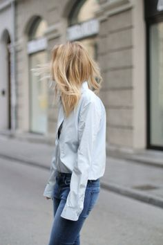 simple button down + jeans