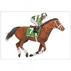 Derby Horse Tea Towel