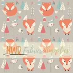 1058d7e5215 BWD Exclusive - Orange Winter Foxes on Cotton Spandex Jersey Knit Fabric.  Cotton Lycra FabricCotton SpandexCustom Printed FabricPrinted ...