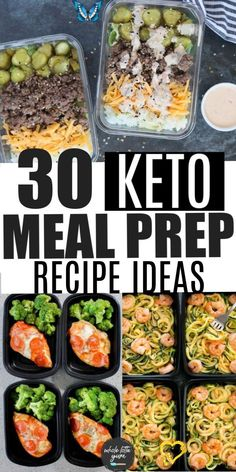 30 Low Carb Keto Meal Prep Recipes 30 low carb keto meal prep recipes for lunch and dinner that are great keto recipes for beginners too. The healthy meal prep recipes are also gluten free, some are paleo and whole30.<br> 30 days of low carb lunch ideas make low carb lunch meal prep so easy! Ideas include both quick and easy meals or ideas to batch cook. Lunch Recipes, Keto Recipes, Easy Dinner Recipes, Healthy Dinner Recipes, Healthy Lunch Ideas, Budget Recipes, Smoothie Recipes, Healthy Meal Prep, Healthy Foods To Eat