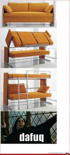 Amazing couch to bunk bed