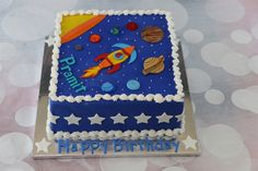 Planets and Spaceship Cake
