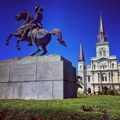 """""""The Union must and shall be preserved."""" #NewOrleans #JacksonSquare #StLouisCathedral #FrenchQuarter #Louisiana by saroks5415"""