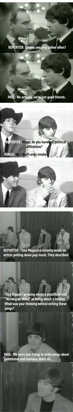 The Beatles and the reporter...