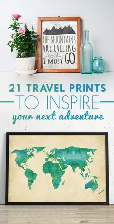 21 travel posters to inspire your next adventure travel crafts, craft app, Inspiration Room, Travel Inspiration, Travel Themes, Travel Posters, Travel Quotes, Travel Ideas, Travel Wall Art, Travel Gallery Wall, Travel Crafts