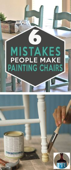 Mistakes People Make Painting Kitchen Chairs Painting kitchen chairs is like riding a roller coaster. Learn for others mistakes before you start your diy project, and get beautiful results!Painting kitchen chairs is like riding a roller coaster. Learn for Refurbished Furniture, Repurposed Furniture, Furniture Makeover, Repurposed Wood, Antique Furniture, Refinished Chairs, Coaster Furniture, Furniture Projects, Furniture Plans