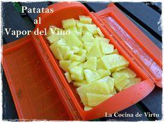 La cocina de Virtu: Patatas al Vapor del Vino Blanco    Estuches y moldes Lekue a la venta aquí: http://www.cornergp.com/tienda?bus=lekue
