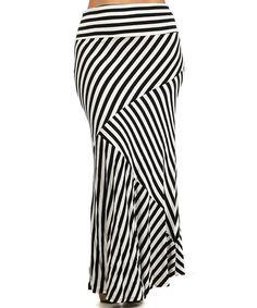 Love this Black & White Contrast Stripe Maxi Skirt - Plus on #zulily! #zulilyfinds