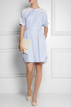 No. 21Aria lace-trimmed cotton shirt dress