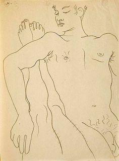 Drawing by Jean Cocteau for Jean Genet's Querelle de Brest