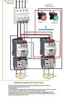 Esquemas eléctricos: Circuito basico con contactores