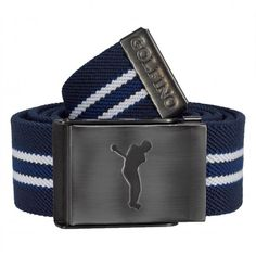 0e4e49c4266587 Golfino men's stretch golf striped belt of woven material for a consistent  golf look to the