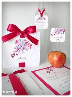 Kolekcja - zaproszenie i dodatki ślubne z malowanym bzem