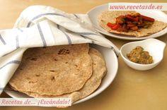 Cómo hacer fajitas mexicanas caseras, receta de la masa. Prepárala en casa de forma muy sencilla, ten listas estas tortillas para preparar auténticas fajitas ;)