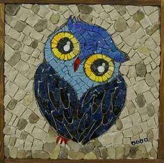oiseau en mosaïque: hibou.