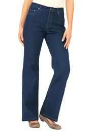 Super stretch denim jeans, bootcut style from Woman Within