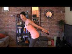 Tone your triceps using a book!  Great workout and so simple!