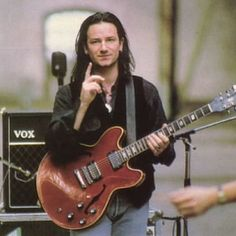 My favourite era Bono. From U2_desire on Instagram. I love how the amp is a Vox...