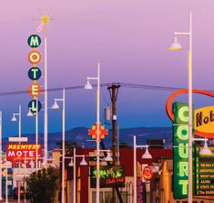 Central Avenue (Historic Route in the Nob Hill section of Albuquerque, New Mexico USA. New Mexico Road Trip, Duke City, South America Destinations, New Mexico Usa, Historic Route 66, Albuquerque News, State Farm, Land Of Enchantment, Roadside Attractions