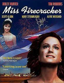 Miss Firecracker is a 1989 comedy film directed by Thomas Schlamme. It stars Holly Hunter, Mary Steenburgen, Tim Robbins, Alfre Woodard, and Scott Glenn. The film, set in Yazoo City, Mississippi, was written by Pulitzer Prize-winning playwright Beth Henley and is based on her 1984 play, The Miss Firecracker Contest. #MSMovies