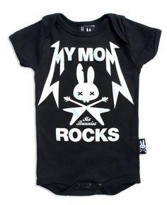 BABY ONESIE ROCKABILLY SIX BUNNIES GIRLS BOYS SHOWER GIFT TATTOO MUM ROCKS PUNK