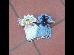 Sacchettino bomboniera all'uncinetto - YouTube Wedding Ring Box, Wedding Favor Bags, Wedding Party Favors, Creative Wedding Favors, Inexpensive Wedding Favors, Crochet Flower Tutorial, Crochet Flowers, Crochet Wedding Favours, Simple Bags
