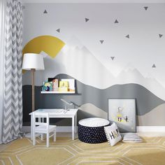 Ideas For Wall Paper Girly Bedroom Boy And Girl Shared Bedroom, Baby Boy Rooms, Girl Room, Kids Bedroom, Bedroom Decor, Bedroom Wall, Kids Room Wallpaper, Kids Room Design, Room Paint