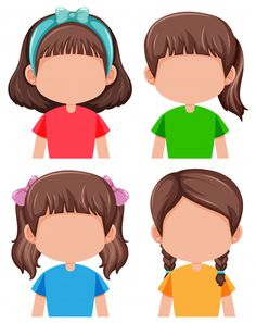 Group of faceless girls Premium Vector Nursery Activities, Preschool Learning Activities, Therapy Activities, Kids Learning, Art Games For Kids, Summer Activities For Kids, Body Preschool, Blog Backgrounds, Art Drawings For Kids