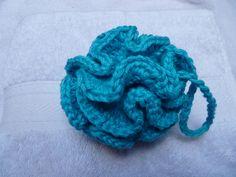 Tawashi fleur de bain au crochet