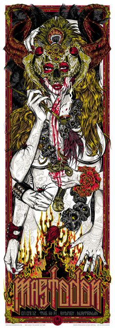 MASTODON - SYDNEY 2012 gigposter: limited run of 250, signed and numbered by artist Rhys Cooper